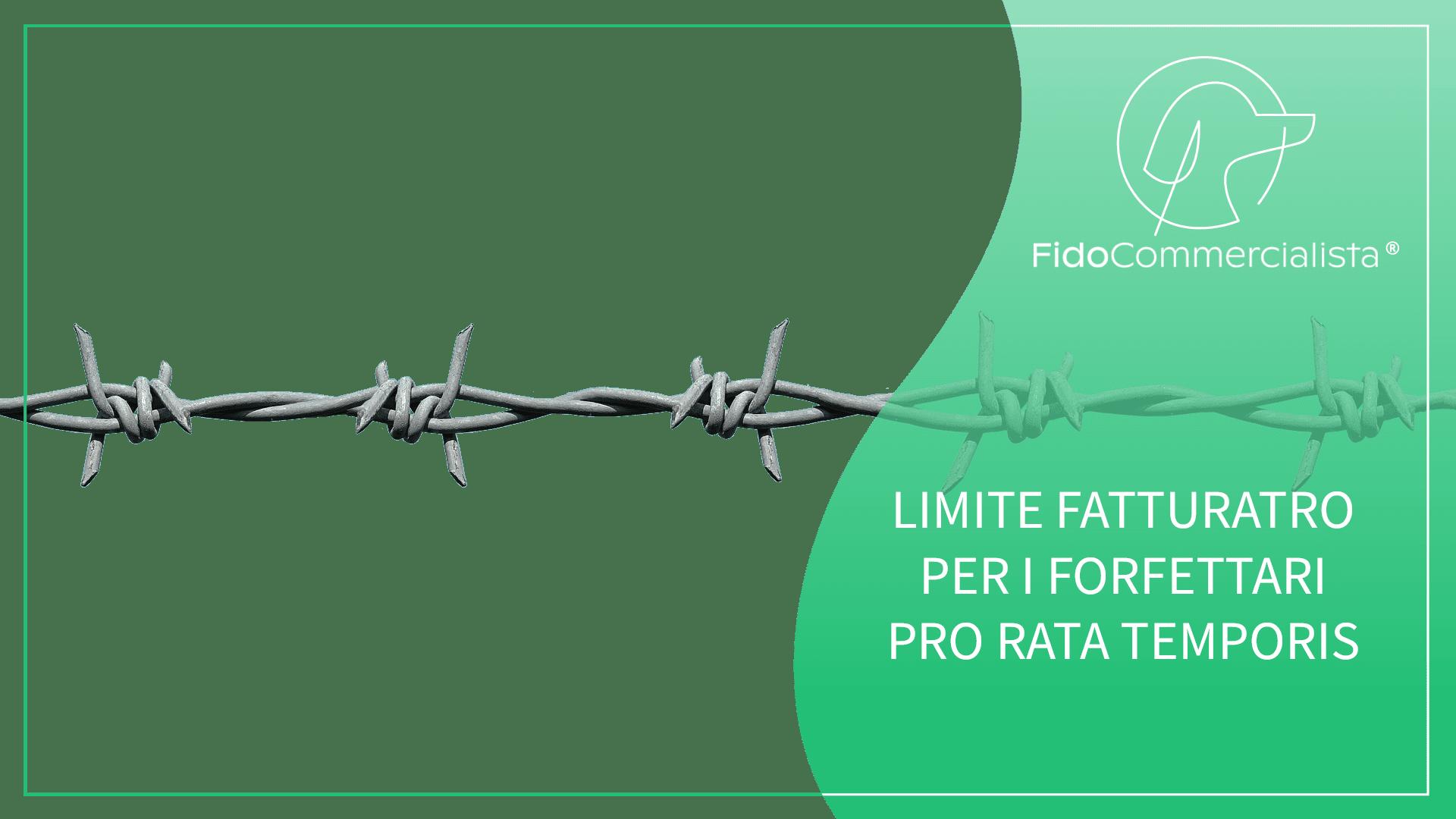 LIMITE FATTURATO FORFETTARI