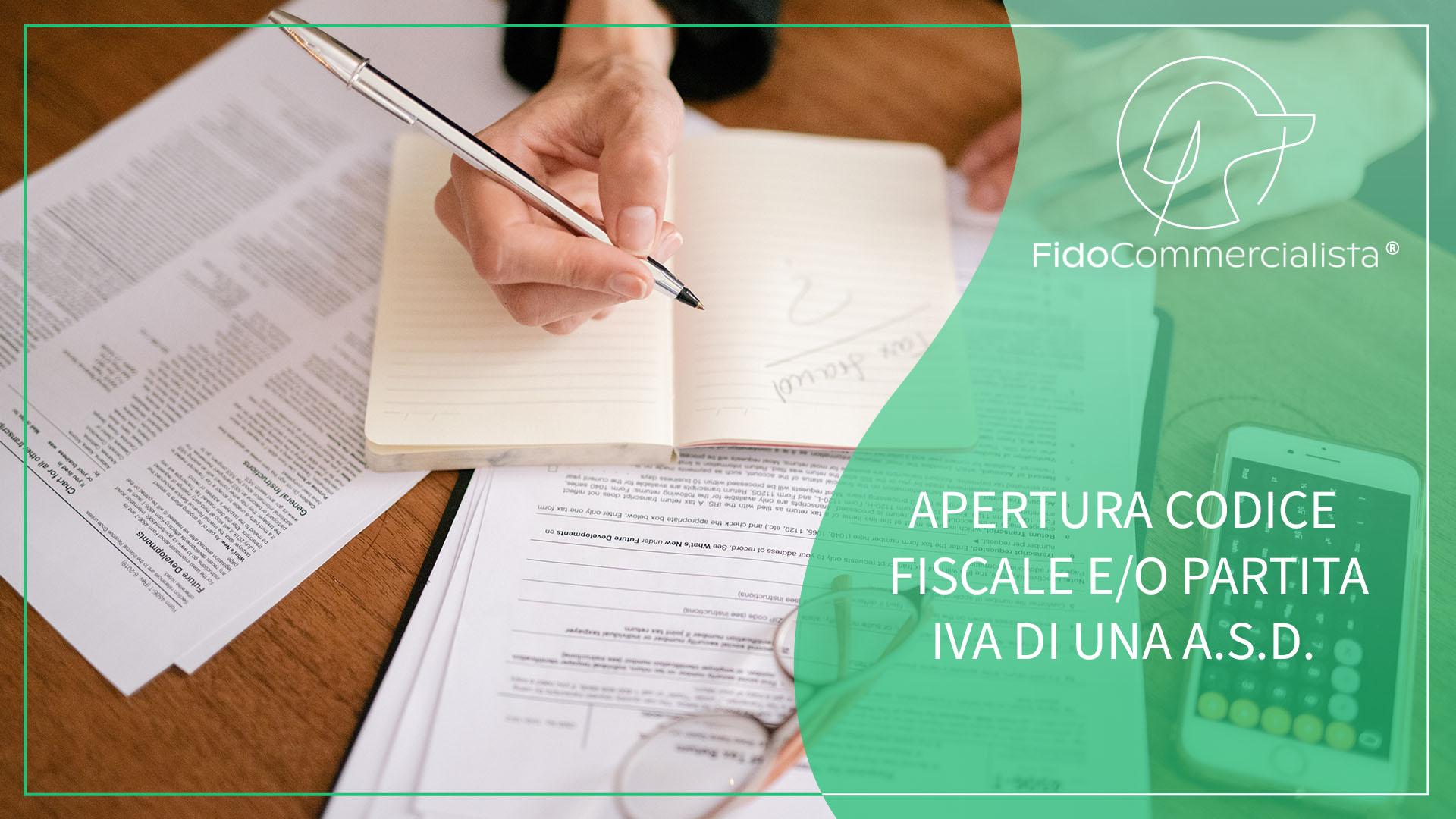 APERTURA CODICE FISCALE E PARTITA IVA ASD
